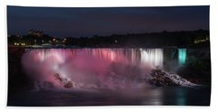 Bath Towel featuring the photograph Evening At Niagara Falls, New York View by Brenda Jacobs