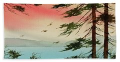 Bath Towel featuring the painting Evening Light by James Williamson