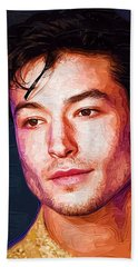 Ezra Miller Art Print Hand Towel