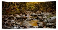 Fall On The Gale River Bath Towel