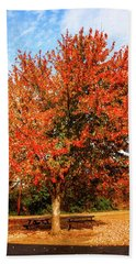 Fall Time Bath Towel by Randy Sylvia