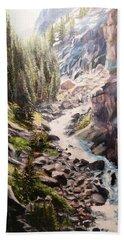 Falls Below Rimrock Lake Bath Towel by Patti Gordon