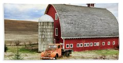 Farm Truck Bath Towel by Steve McKinzie