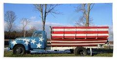 Farm Truck Wading River New York Hand Towel