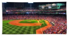 Fenway Park At Night - Boston Hand Towel