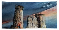 Ferns Castle, Wexford Bath Towel