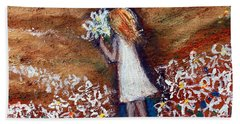 Field Of Flowers Hand Towel by Winsome Gunning