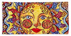 Fiesta Sun Hand Towel by Megan Walsh