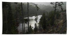 Firehole River In Yellowstone Bath Towel