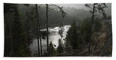 Firehole River In Yellowstone Hand Towel by Cindy Murphy - NightVisions
