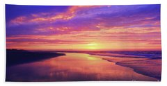 First Light At The Beach Hand Towel