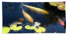 Fish Pond Bath Towel by Gary Grayson