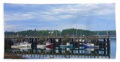 Fishing Boats - Beaver Harbour Bath Towel