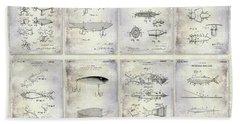 Fishing Lure Patent History Bath Towel