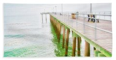 Fishing Pier, Margate, New Jersey Bath Towel