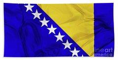 Flag Of Bosnia Bath Towel