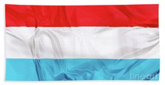 Flag Of Luxembourg Bath Towel