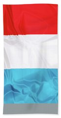 Flag Of Luxembourg Hand Towel