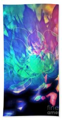 Floral Abstract 17-01 Hand Towel by Maria Urso