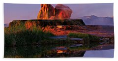 Hand Towel featuring the photograph Fly Geyser At Dawn by Sean Sarsfield