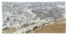 Foam On The Waves Bath Towel by Hans Engbers