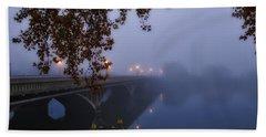 Fog On The River Bath Towel by Lynn Hopwood
