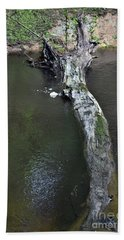 Hand Towel featuring the photograph Footbridge by Skip Willits