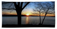 Ford Lake Sunset Hand Towel