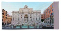 Fountain Di Trevi And Sunrise, Rome Hand Towel