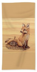 Fox Bath Towel by Ron Haist