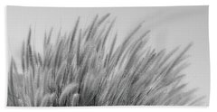 Foxtails On A Hill In Black And White Bath Towel