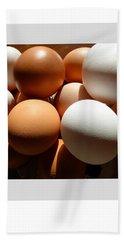Framed Eggs Bath Towel
