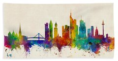 Frankfurt Germany Skyline Bath Towel