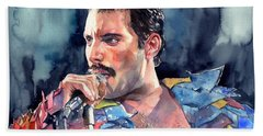 Freddie Mercury Portrait Bath Towel