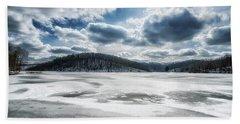 Frozen Lake Hand Towel