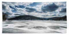 Frozen Lake Bath Towel