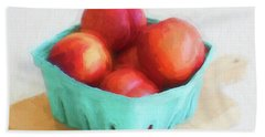 Fruit Stand Nectarines Bath Towel