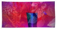 Garden Vase Bath Towel by Iris Gelbart