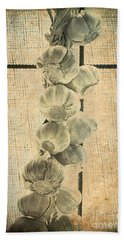 Garlic Hand Towel by Elaine Teague