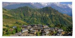 Ghandruk Village In The Annapurna Region Hand Towel