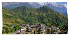 Ghandruk Village In The Annapurna Region Bath Towel