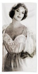 Gina Lollobrigida, Vintage Hollywood Actress Bath Towel