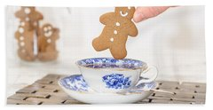 Gingerbread In Teacup Hand Towel
