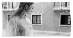 Girl In Profile Bath Towel