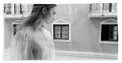Girl In Profile Hand Towel