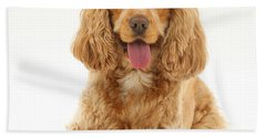 Golden Cocker Spaniel Dog Bath Towel