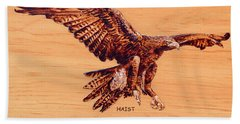 Golden Eagle Bath Towel by Ron Haist