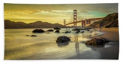 Golden Gate Sunset Bath Towel