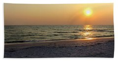 Golden Setting Sun Hand Towel