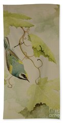 Golden-winged Warbler Bath Towel